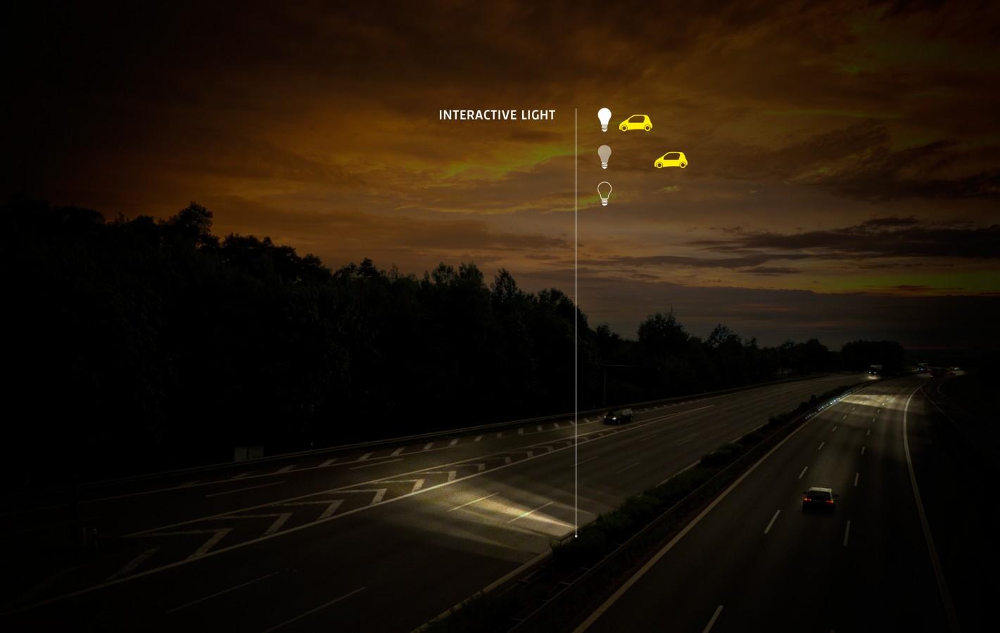 Διαγράμμιση οδών με μπογιά που λάμπει στο σκοτάδι